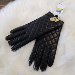 B2G1 NWT Michael Kors Black Quilted Leather Gloves